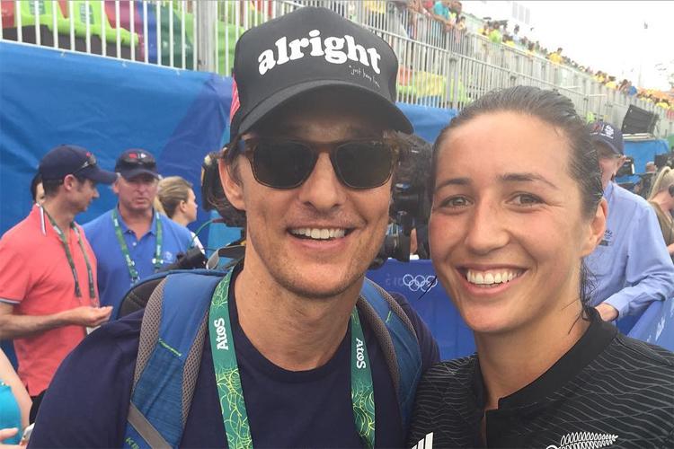 Matthew Mcconaughey na Olimpíada do Rio