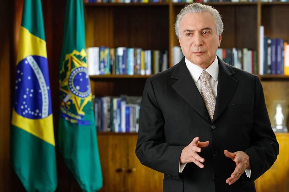 Brasília - DF -  31/08/2016. Presidente Michel Temer durante pronunciamento à nação