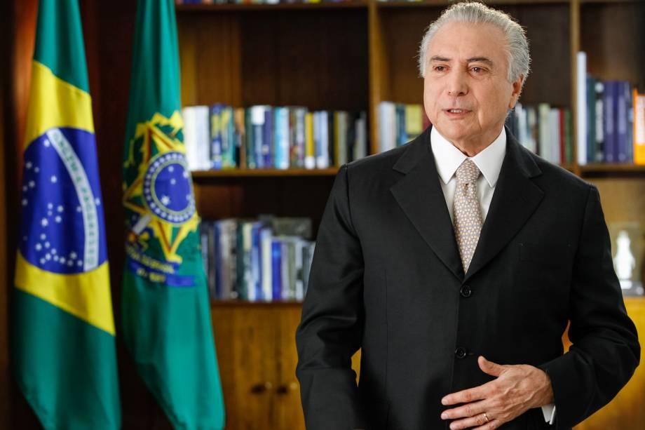 Brasília - DF - 31/08/2016. Presidente Michel Temer durante pronunciamento à nação.
