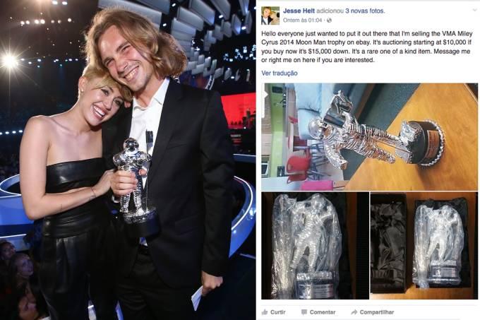 Miley Cyrus e o ex-morador de rua Jesse Helt
