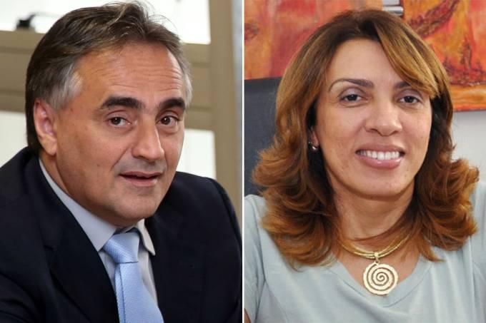 O prefeito de João Pessoa, Luciano Cartaxo (PSD), e a candidata Cida Ramos (PSB)