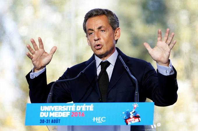 O ex-presidente da França, Nicolas Sarkozy