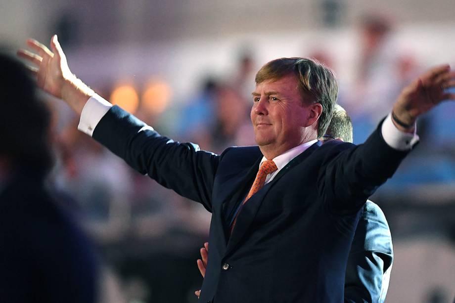 Rei Willem-Alexander, da Holanda,  durante a cerimônia de abertura dos Jogos Olímpicos Rio 2016
