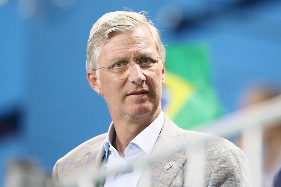 O rei Philippe da Bélgica, durante partida de Hóquei sobre grama entre Brasil e Bélgica, na Rio 2016