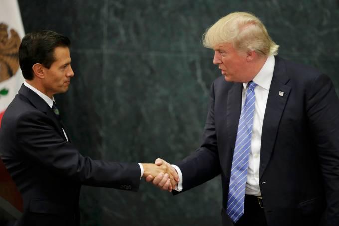 Donald Trump e Enrique Pena Nieto
