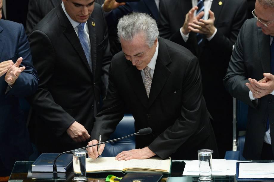 Michel Temer assume presidência da República em Brasília