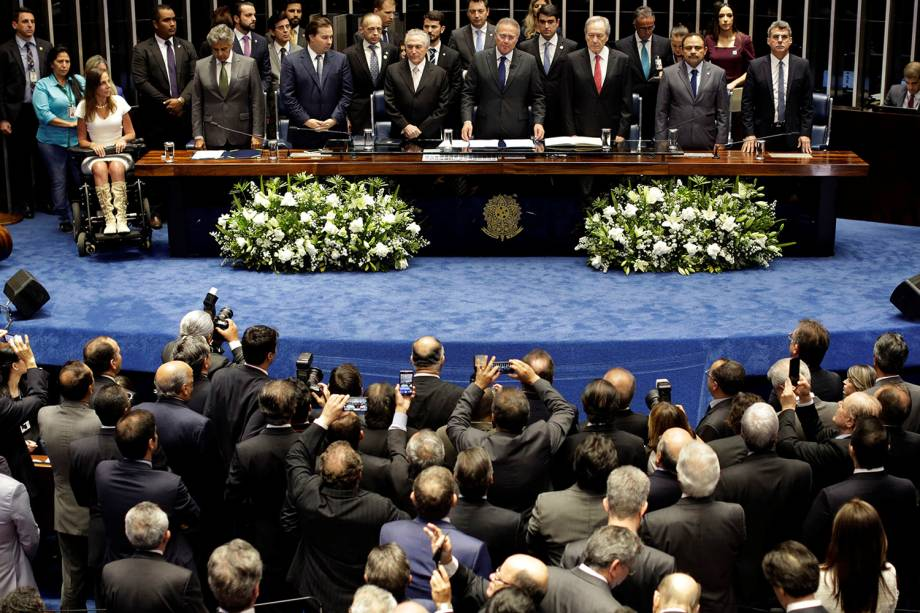 Michel Temer assume a presidência da República após votação do Senado decidir pela destituição de Dilma Rousseff - 31/08/2016