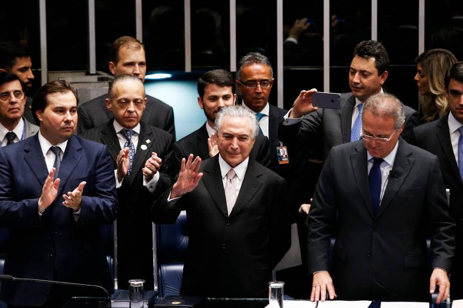 Michel Temer é empossado como presidente da República, em cerimônia realizada no  Congresso Nacional, em Brasília (DF) - 31/08/2016