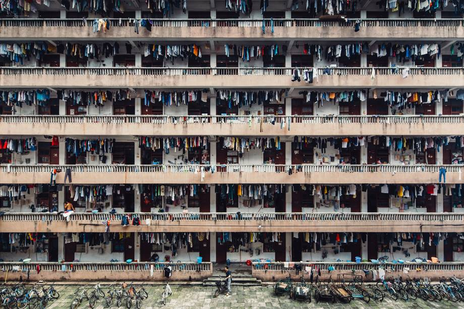 Fotógrafo registra vida cotidiana em uma universidade na China