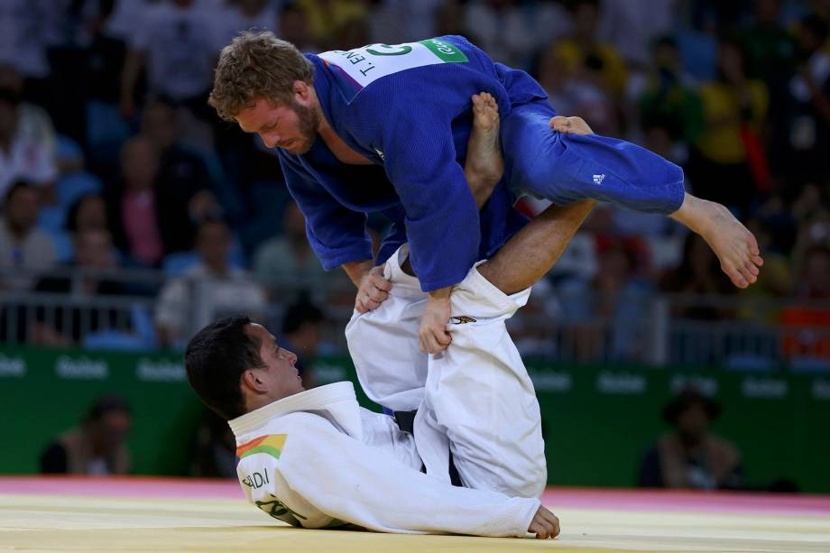 Judoca Felipe Kitadai é eliminado da Rio 2016 pelo alemão Tobias Englmaier - 06/08/2016