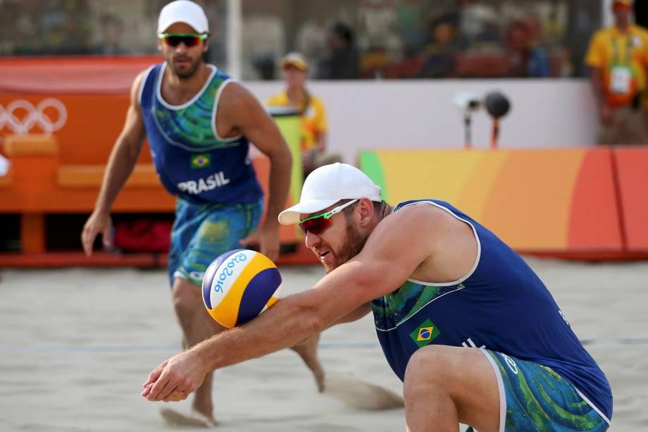Dupla Bruno e Alisson, do vôlei de praia, duelam contra os Estados Unidos na Rio-2016 - 15/08/2016