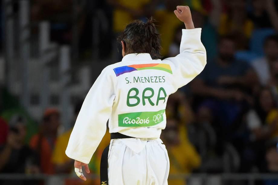 Sarah Menezes comemora vitória contra a belga Van Snic e avança nas fases de grupo da Rio 2016 - 06/08/2016