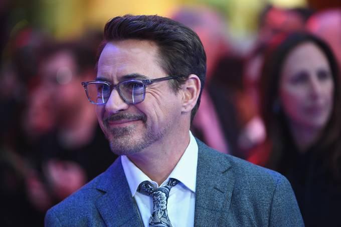 O ator Robert Downey Jr. durante estreia do filme 'Capitão América: Guerra Civil', em Londres