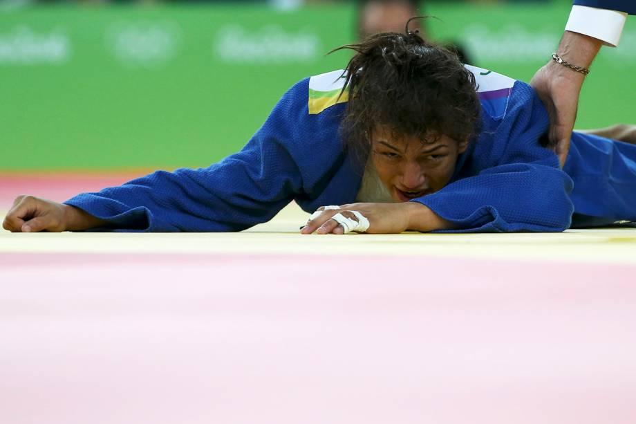 A brasileira Sarah Menezes perde para a judoca da Mongólia, Urantsetseg Munkhbat, na Arena Carioca 2 - 06/08/2016