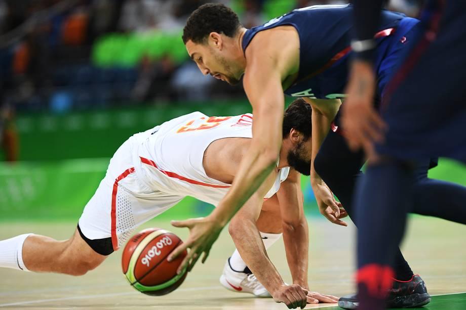 Semifinal de basquete masculino entre Estados Unidos e Espanha, nas Olimpíadas Rio 2016
