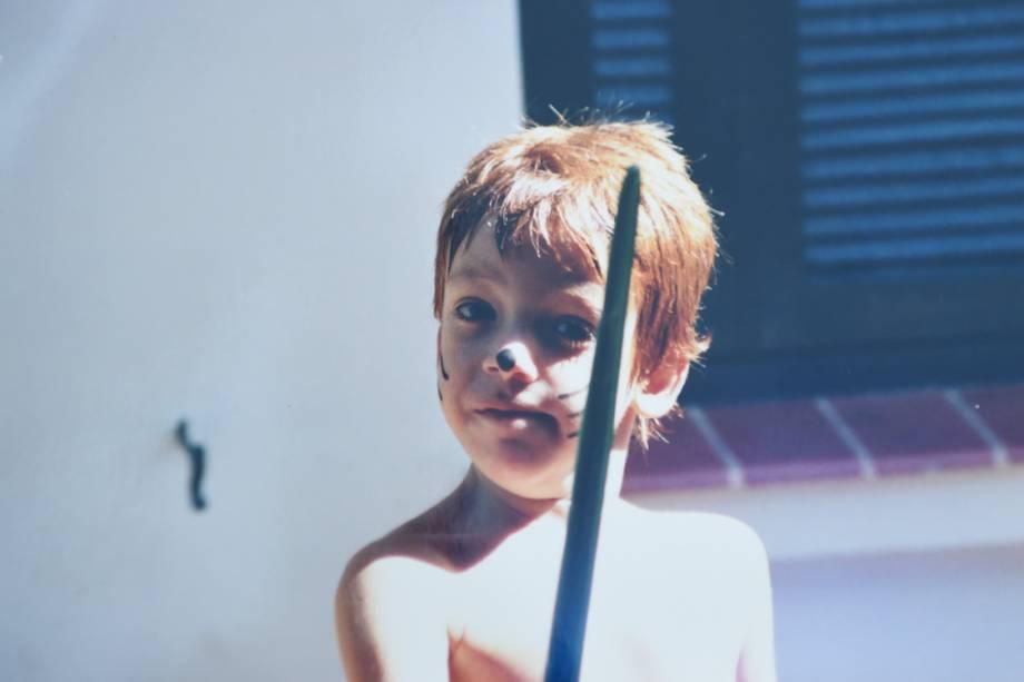 O ator João Côrtes quando criança