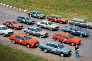 Ayrton Senna e a brigada de 12 carros testados em Interlagos