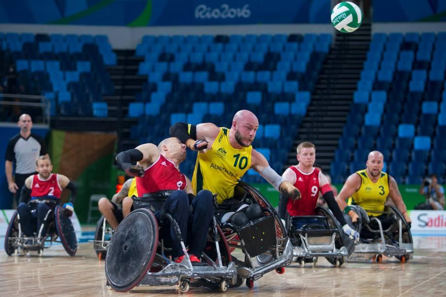 Rugby de cadeira de rodas Austrália x Grã-Bretanha