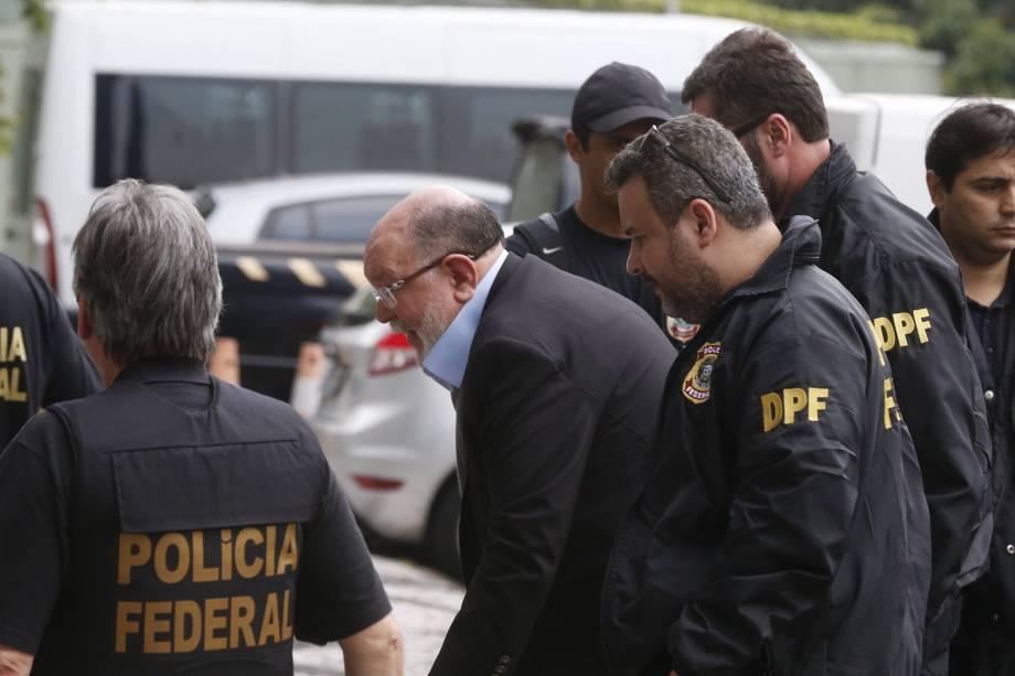 Léo Pinheiro da OAS chega a sede da PF em São Paulo por condução coercitiva, em nova operação da Polícia Federal chamada de 'Operação Greenfield' - 05/09/2016