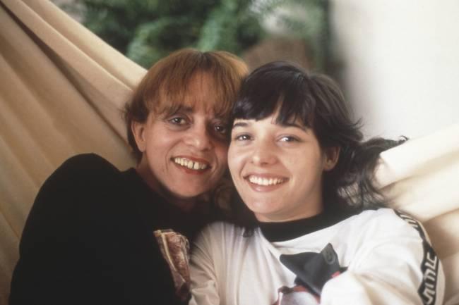 Daniela Perez com a mãe, Glória Perez