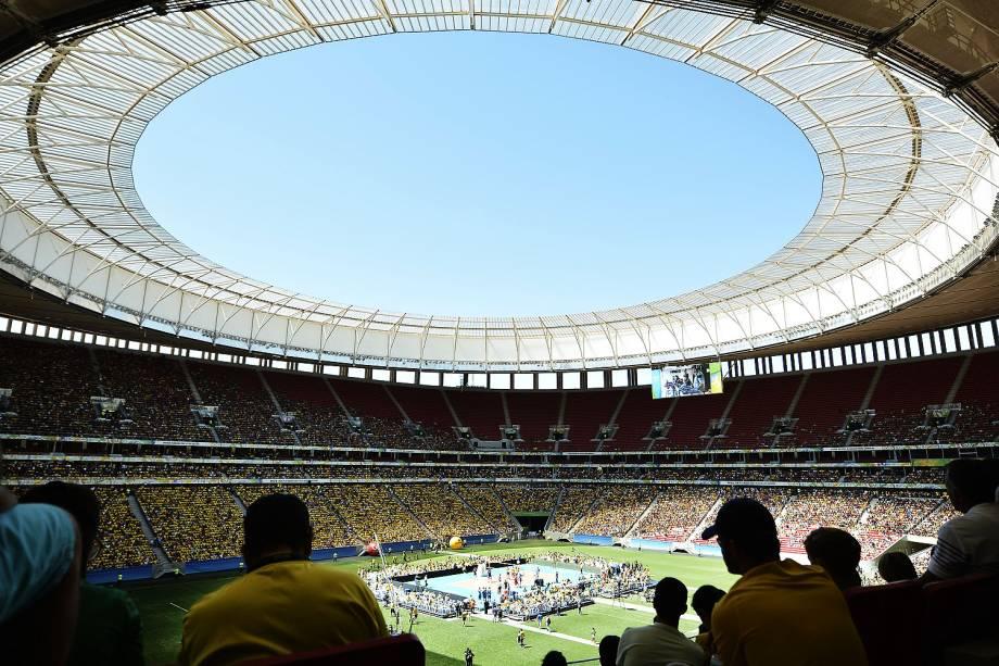 Despedida do jogador Serginho da seleção de vôlei durante o Desafio de Ouro entre Brasil e Portugal no Estádio Nacional Mané Garrincha – 04/09/2016
