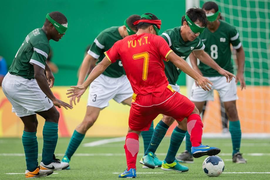Semifinal do futebol de 5 entre Brasil e China nos Jogos Paralímpicos Rio 2016 - 15-09-2016