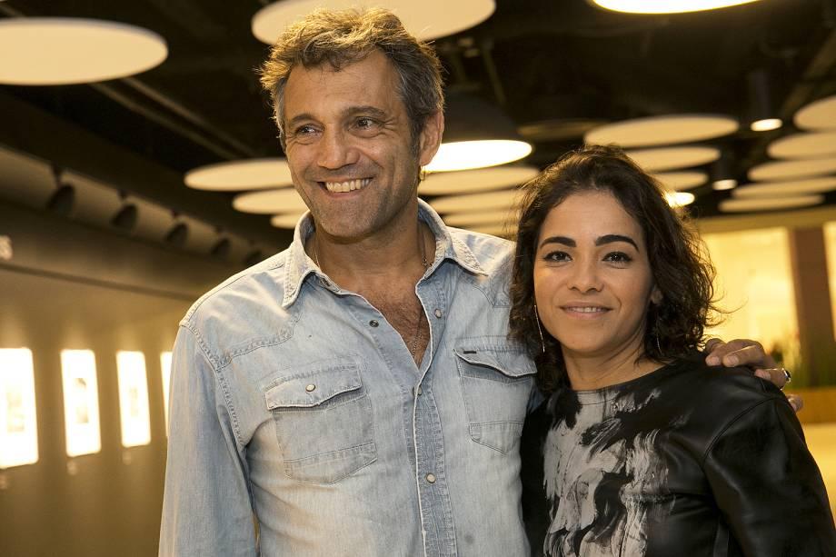 """Domingos Montagner e sua mulher, Luciana Lima - O filme """"Através da Sombra"""", de Walter Lima Júnior, está na 39ª Mostra Internacional de Cinema de São Paulo"""