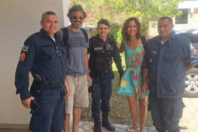 Domingos Montagner e Camila Pitanga antes do desaparecimento em Canindé (SE)