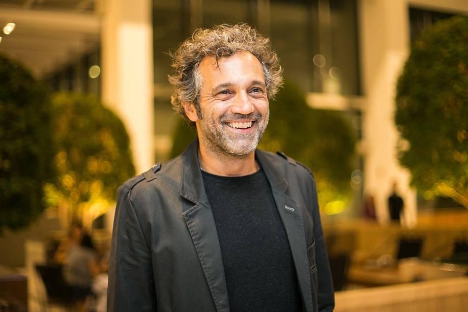O ator Domingos Montagner - Pré-estreia do filme 'De Onde Eu Te Vejo', no shopping JK Iguatemi, em São Paulo. 29-03-2016
