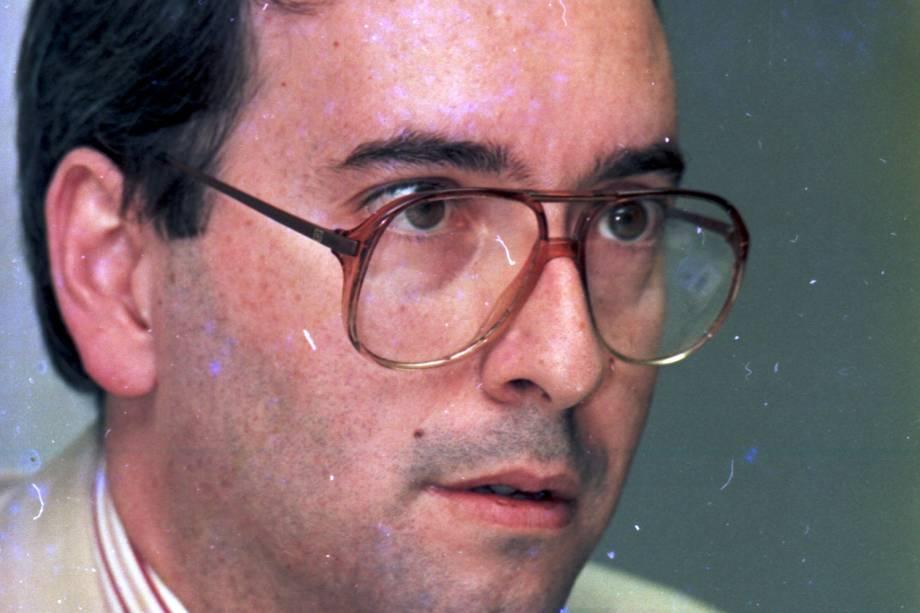 Eduardo Cunha, então deputado federal, durante apresentação de Marcos Tosta aos parlamentares do PPB-RJ, no Rio de Janeiro - 1993