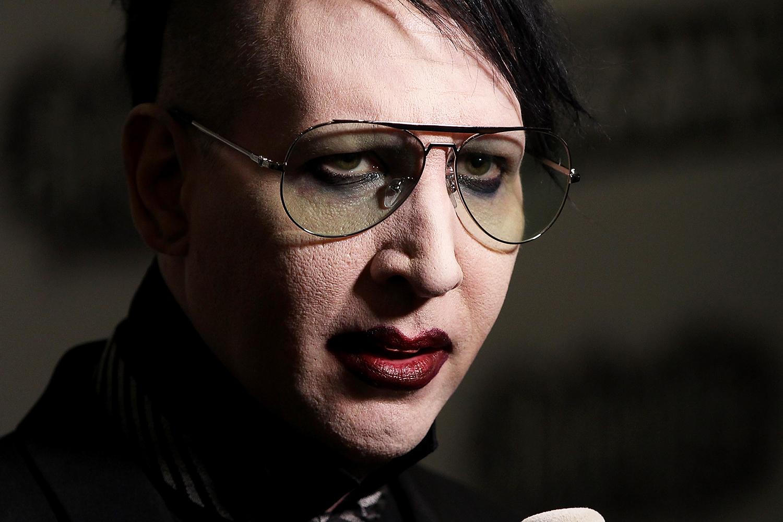 O cantor Marilyn Manson durante evento em Londres, na Inglaterra - 11/06/2015