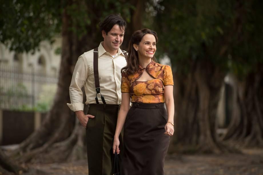 Saulo ( Murilo Benicio ) e  Verônica  ( Debora Falabella ), em cena da minissérie 'Nada Será Como Antes'