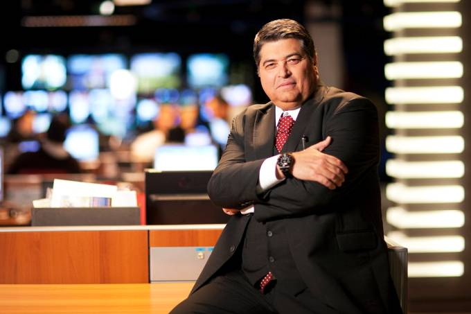 O apresentador da TV Bandeirantes, José Luiz Datena