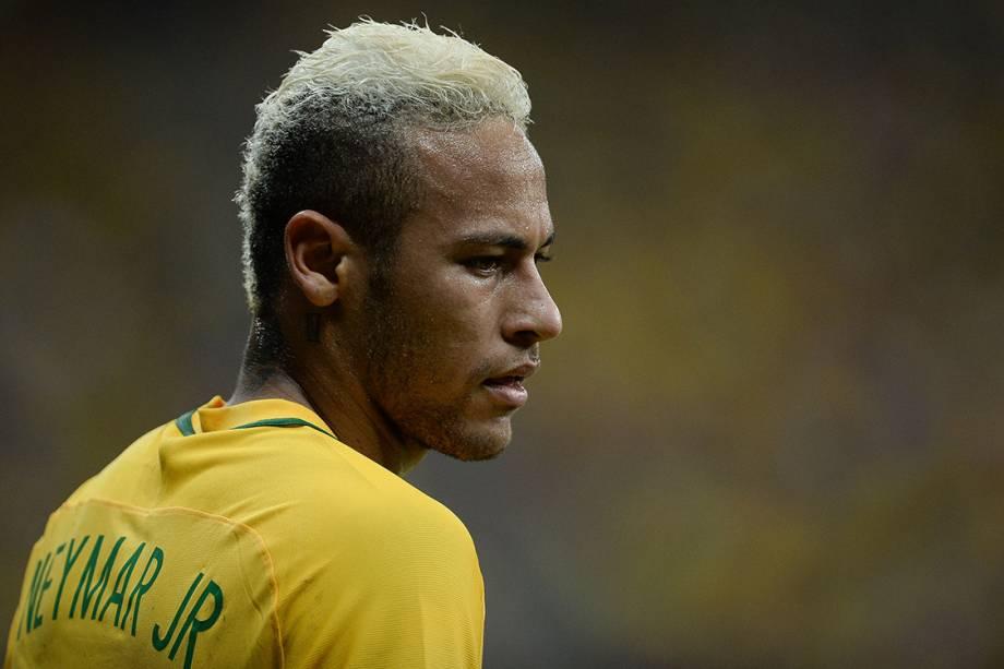 Neymar durante o jogo contra a Colômbia, em Manaus