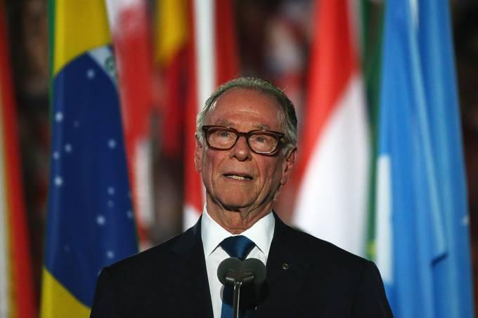 presidente do Comitê Organizador da Rio-2016, Carlos Arthur Nuzman, durante a cerimônia de abertura dos Jogos Paralímpicos, Rio 2016
