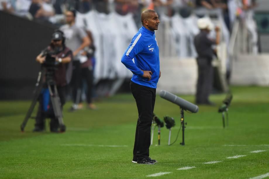 O técnico Cristóvão Borges, demitido pelo Corinthians após derrota para o Palmeiras no Itaquerão