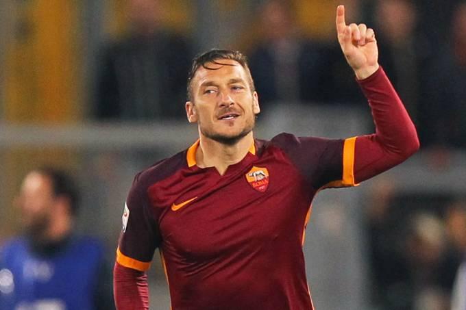 O jogador da Roma, Francesco Totti