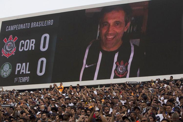 Corinthians faz homenagem ao ator Domingos Montagner antes de partida contra o Palmeiras, no Itaquerão, zona leste de São Paulo (SP) - 17/09/2016
