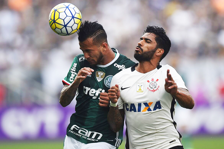 Partida entre Corinthians e Palmeiras, válida pela 26ª rodada do Campeonato Brasileiro, realizada no Itaquerão, zona leste de São Paulo (SP) - 17/09/2016