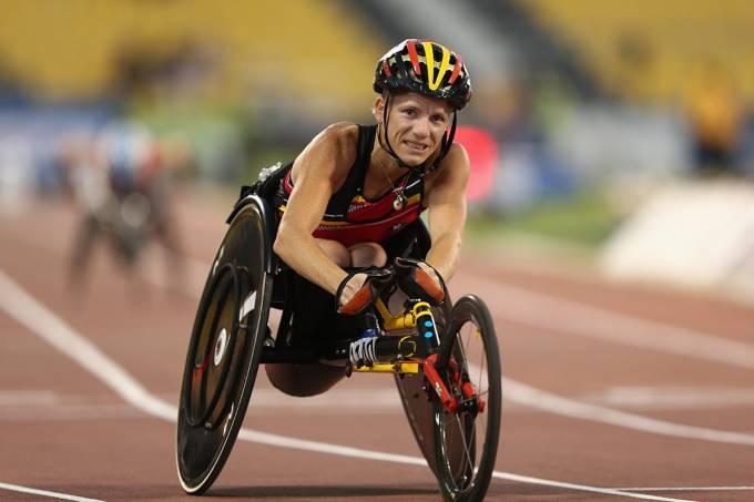 A atleta paralímpica da Bélgica, Marieke VervoortA atleta paralímpica da Bélgica, Marieke Vervoort