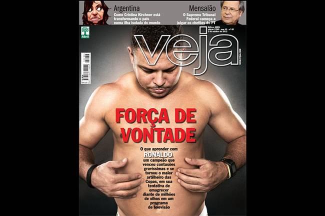 O ex-jogador Ronaldo na capa de VEJA - 03/10/2012