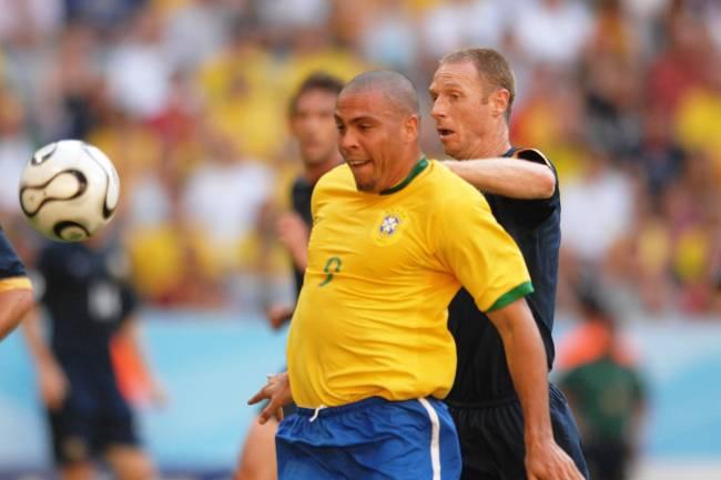 O jogador Ronaldo durante partida contra a Austrália, válida pela segunda rodada do grupo F da Copa do Mundo de Futebol, realizada na Alemanha - 18/06/2006