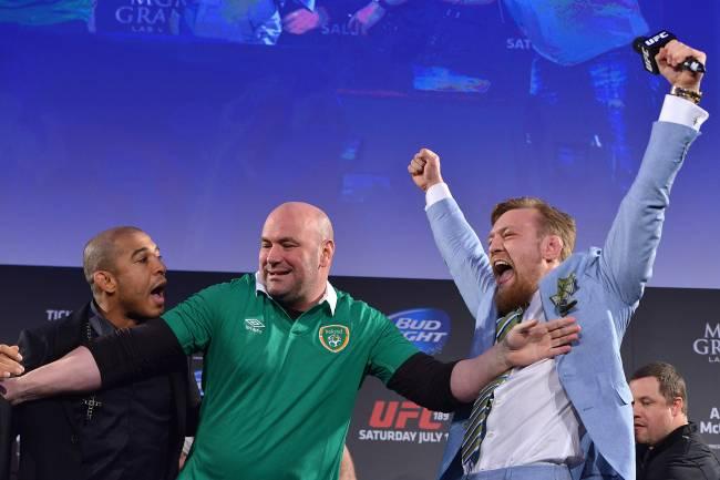 Confusão durante evento do UFC 189 em Dublin, na Irlanda em 2015