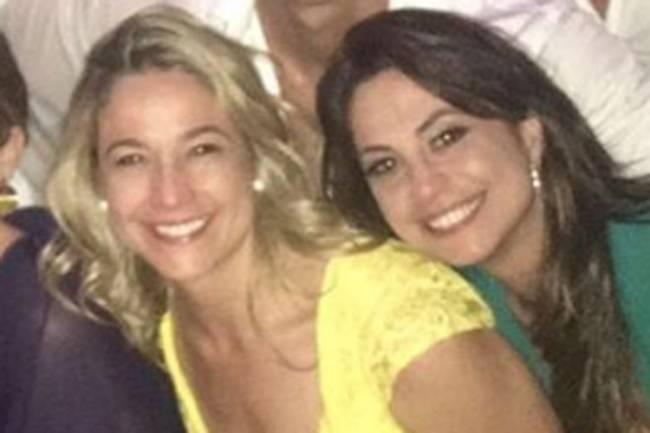 A jornalista Fernanda Gentil e aquela que seria sua namorada, a também jornalista Priscila Montandon