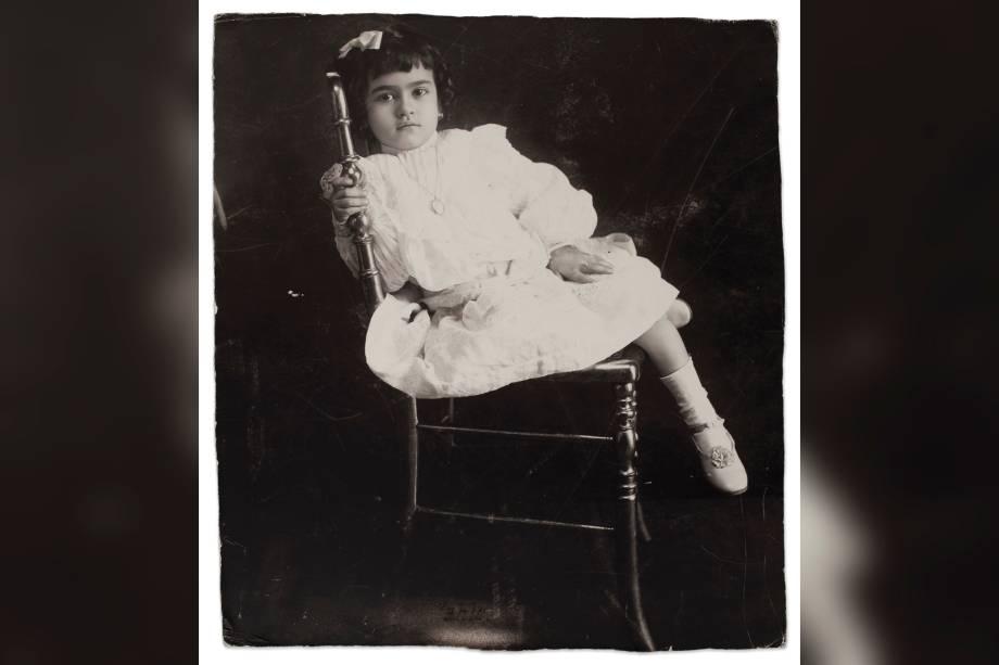 Frida com 5 anos , Anónimo, em 1912