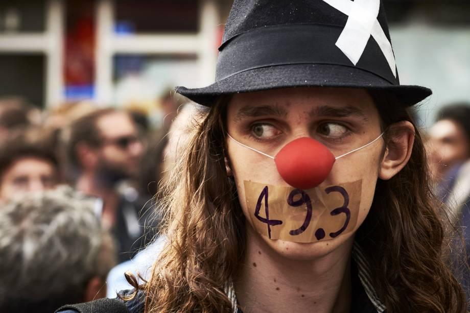 Manifestantes protestam na cidade de Lyon, na França, contra as reformas trabalhistas propostas pelo governo - 15/09/2016