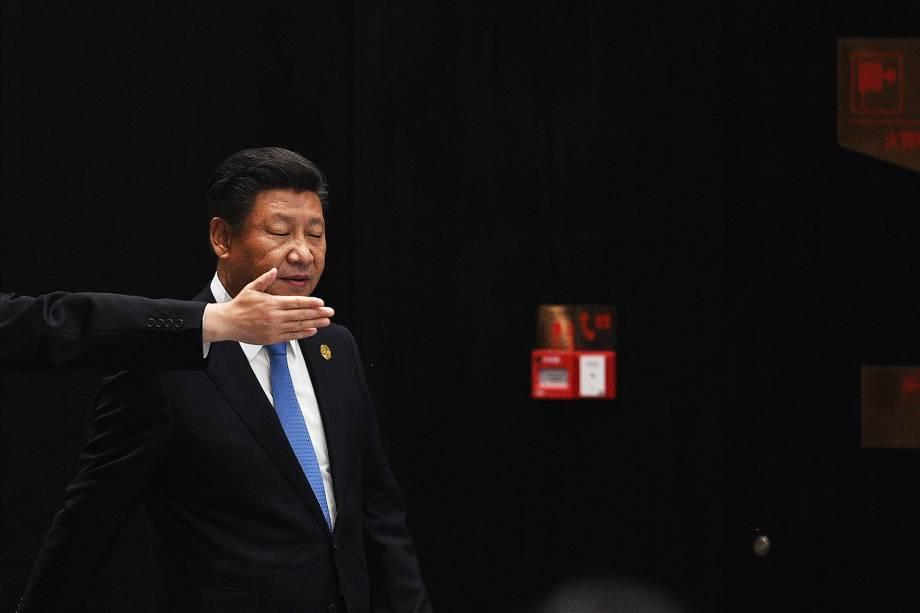 Presidente da China, Xi Jinping durante seu discurso de encerramento do G20, em Hangzhou - 05/09/2016