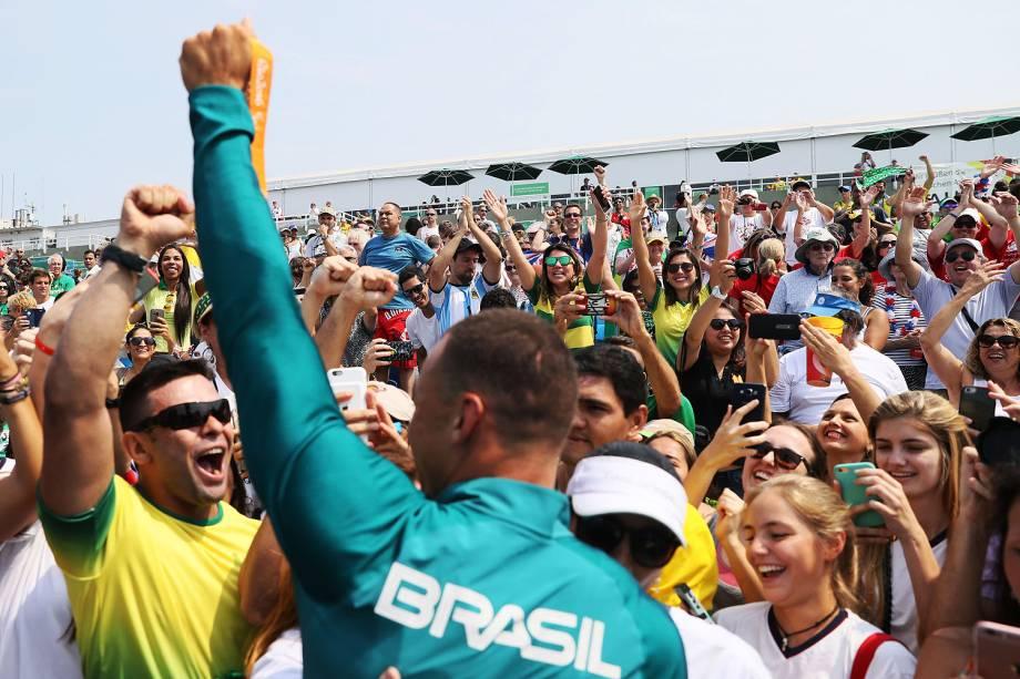 Caio Ribeiro conquista medalha de bronze na prova de canoagem de velocidade classe KL3, no Estádio da Lagoa, pelos Jogos Paraolímpicos do Rio 2016 - 15-09-2016