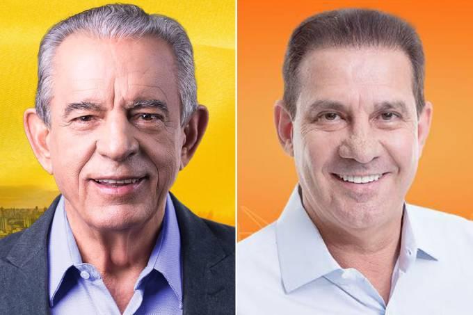 Íris Rezende (PMDB) e Vanderlan Cardoso (PSB)