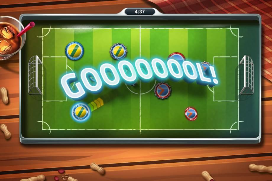 Em 'Super Bottom Soccer', joga-se o tão brasileiro futebol de botão